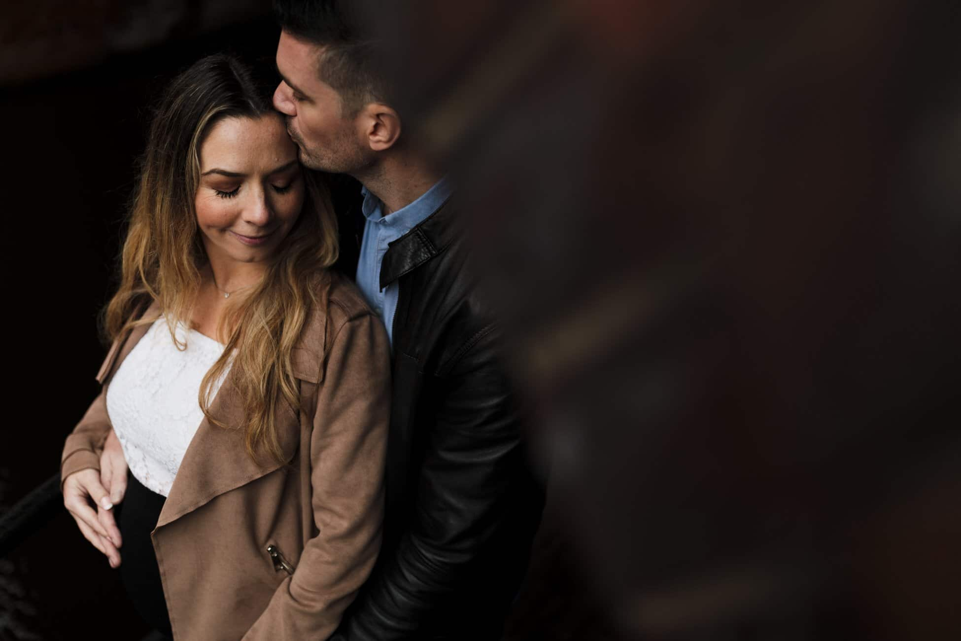 Engagement photo on Manchester canal